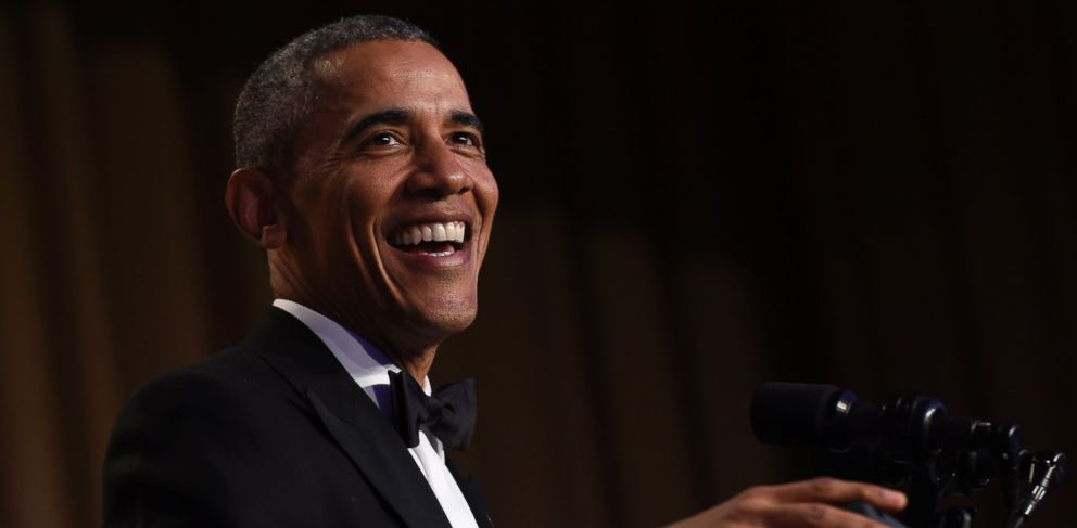 PHOTO: President Barack Obama speaks at the annual White House Correspondents Association dinner at the Washington Hilton in Washington, Saturday, April 30, 2016.