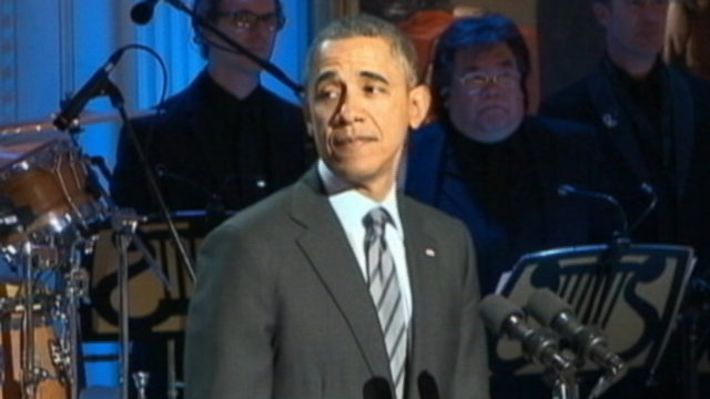 VIDEO: President Obama flubs the title of Aretha Franklins famous song during a musical event.