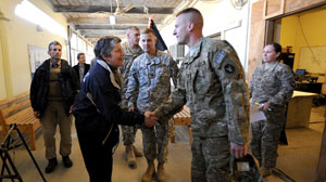PHOTO Homeland Security Secretary Janet Napolitano in Afghanistan, Dec 31, 2010