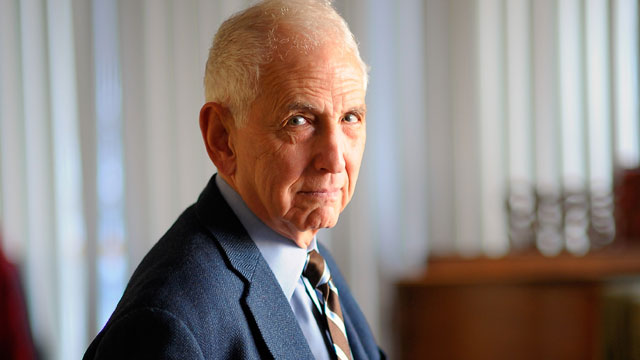 PHOTO: Daniel Ellsberg know for releasing the Pentagon Papers poses in Washington DC Feb. 11, 2010.