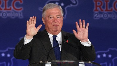 PHOTO: Mississippi Gov. Haley Barbour speaks during the 2011 Republican Leadership Conference in this June 17, 2011 file photo in New Orleans, Louisiana.