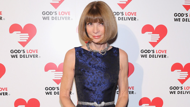 PHOTO: Editor-in-chief of American Vogue Anna Wintour attends the Michael Kors- Golden Heart Gala at Cunard Building on October 15, 2012 in New York City.