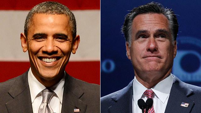 PHOTO: Barack Obama and Mitt Romney