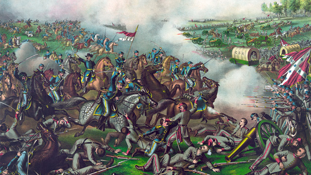 PHOTO: Battle of Five Forks painting
