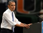 PHOTO: President Barack Obama speaks during a Grassroots Event at Bank United Center, Oct. 11, 2012, in Miami.