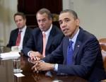 PHOTO: Barack Obama, John Boehner and Timothy Geithner