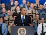 PHOTO: US President Barack Obama speaks about gun violence at the Minneapolis Police Departments special operations center, Feb. 4, 2013 in Minneapolis.