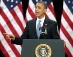 PHOTO: President Barack Obama delivers his address on immigration reform at Del Sol High School, Jan. 29, 2013 in Las Vegas.