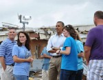 PHOTO: President Barack Obama visits the tornado affected Plaza Towers Elementary School on May 26, 2013 in Moore, Okla.