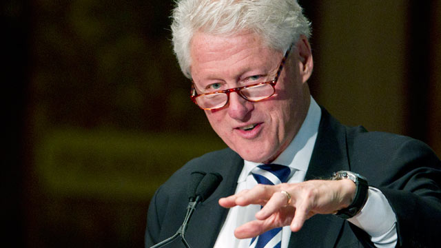 PHOTO: Former U.S. President Bill Clinton speaks during a Clinton Foundation event at Georgetown University in Washington, D.C., in this Oct. 28, 2011 file photo.