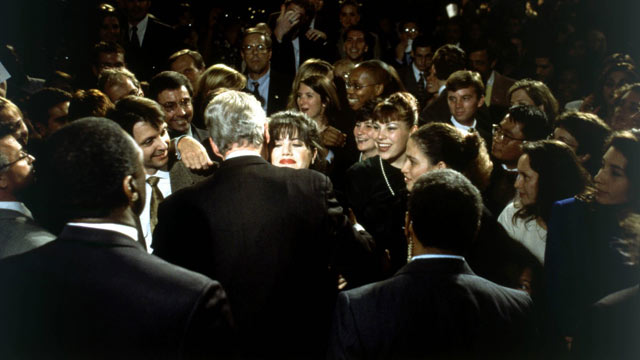 PHOTO: Bill Clinton hugs Monica Lewinsky at the Democratic Fundraiser in Washington, DC, Oct. 23, 1996.