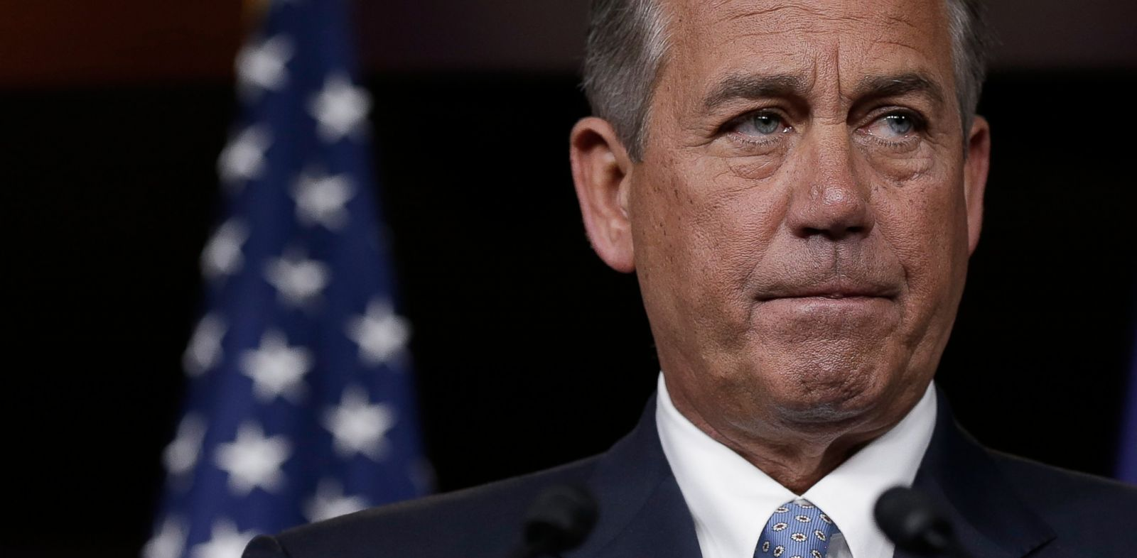 PHOTO: Speaker of the House John Boehner answers questions during a press conference at the U.S. Capitol November 21, 2013 in Washington, DC.