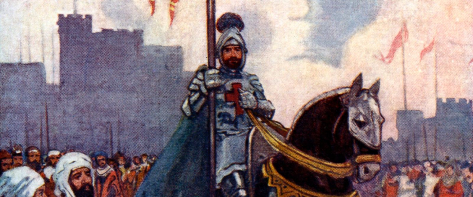 """PHOTO: An illustration from """"Our Island Story"""" by H.E. Marshall, showing King Richard I, known as Richard the Lionheart."""