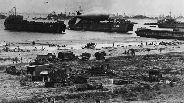 PHOTO: American troops landed on Normandy beaches, June 6, 1944.