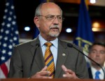 """PHOTO: Rep. Richard """"Doc"""" Hastings, R-Wash., speaks at a news conference on the Domestic Energy and Jobs Act, June 6, 2012."""