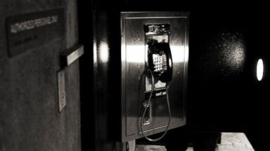 PHOTO: The phone booth at Judiciary Square Metro station, pictured Dec. 8, 2008 in Washington, D.C., was used by NSA whistleblower Thomas Tamm.