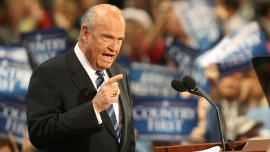 PHOTO: Actor and former U.S. Sen. Fred Thompson speaks on day two of the Republican National Convention,St. Paul, Minnesota, Sept. 2, 2008.