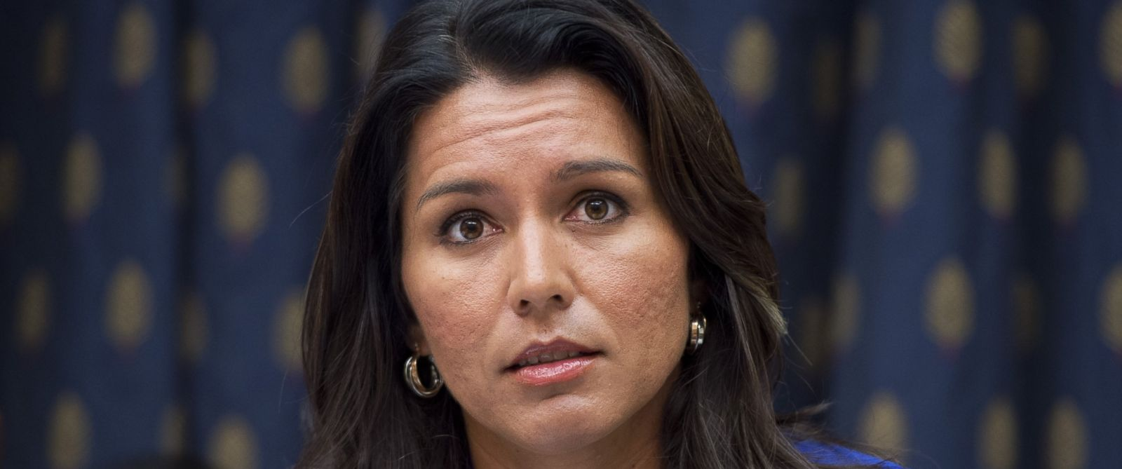PHOTO: Rep. Tulsi Gabbard, D-Hawaii, attends a House Foreign Affairs Subcommittee on the Western Hemisphere hearing, Oct. 1, 2014, on Marine Sgt. Andrew Tahmooressi who is imprisoned in Mexico.