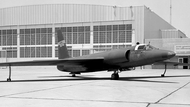 PHOTO: A U-2 was painted with a fictitious NASA serial number and shown to the news media at NASA's Dryen Flight Research Center at Edwards Air Force Base, Edwards, Calif.