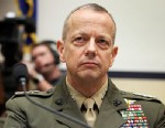 PHOTO: U.S. Marine General John Allen, the chief U.S. and NATO commander in Afghanistan, listens during a hearing before the House Armed Services Committee, March 20, 2012, on Capitol Hill in Washington.