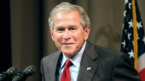 gty george bush dm 130423 wblog G.W. Bush Advances in Esteem Yet Still With More Brush to Cut