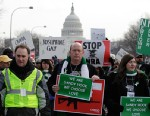 PHOTO: Friends of Chase Kowalski, one of the victims of the shooting in Newtown, Conn., take part in the March on Washington for Gun Control on Jan. 26, 2013 in Washington.