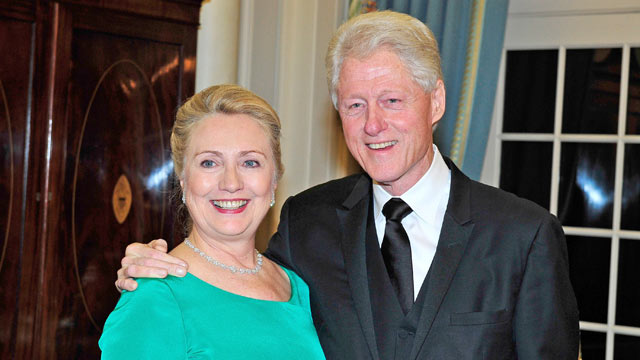 PHOTO: Hillary and Bill Clinton have become strong supporters of gay marriage.