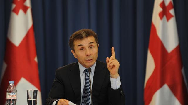 PHOTO: Georgia's Prime Minister Bidzina Ivanishvili speaks at a press conference in Tbilisi, Feb. 5, 2013.