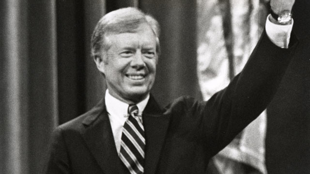 PHOTO: Jimmy Carter during the 1980 Democratic National Convention in New York, N.Y.