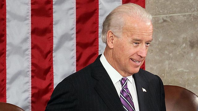 PHOTO: Vice President Joseph Biden before President Barack Obama's speech to both houses of Congress during his first State of the Union address at the U.S. Capitol, Jan. 27, 2010, in Washington,.