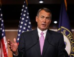 PHOTO: U.S. Speaker of the House Rep. John Boehner (R-OH) speaks during a news conference November 30, 2012 on Capitol Hill in Washington, DC.
