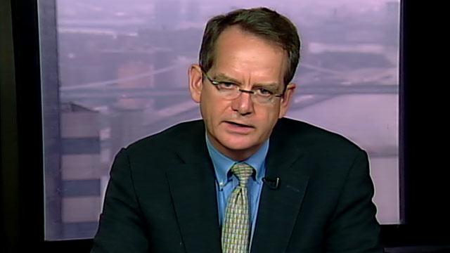 "PHOTO:Standard & Poors Managing Director, John Chambers is interviewed on ""This Week."""