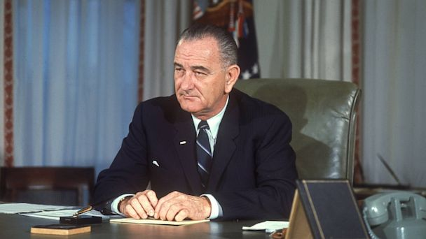 PHOTO: Lyndon Baines Johnson was elected president of the United States in 1964.