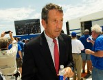 PHOTO: Former South Carolina Governor Mark Sanford attends ceremonies rolling out the Boeing 787 Dreamliner built for Air India, April 27, 2012, in North Charleston, South Carolina.