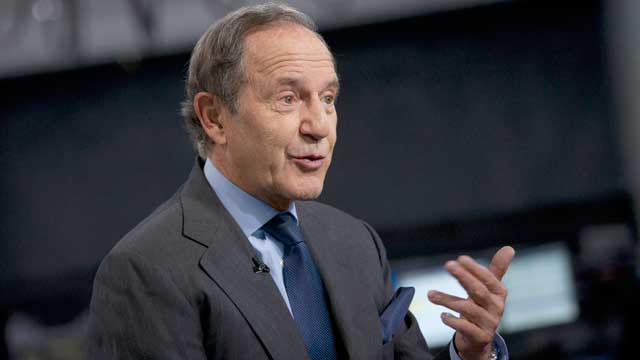 """PHOTO: Mortimer """"Mort"""" Zuckerman, chairman and chief executive officer of Boston Properties Inc., speaks during an interview in New York, U.S., April 26, 2012."""