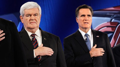 gty newt gingrich romney 21 dm 120127 wblog World News Political Insights: Bad Blood Between Mitt Romney, Newt Gingrich Will Linger