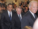 PHOTO: President Barack Obama walks with Senate Majority Leader Harry Reid of Nevada and Vice President elect Joe Biden, Jan. 5, 2009 at the Capitol in Washington.