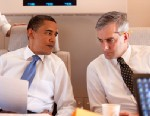 PHOTO: In this photo provided by The White House, President Barack Obama meets with Deputy National Security Advisor for Strategic Communications Denis McDonough (R) and speechwriter Ben Rhodes on Air Force One June 4, 2009 on route to Cairo, Egypt.