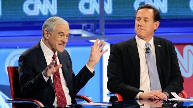 PHOTO: Ron Paul and Rick Santorum