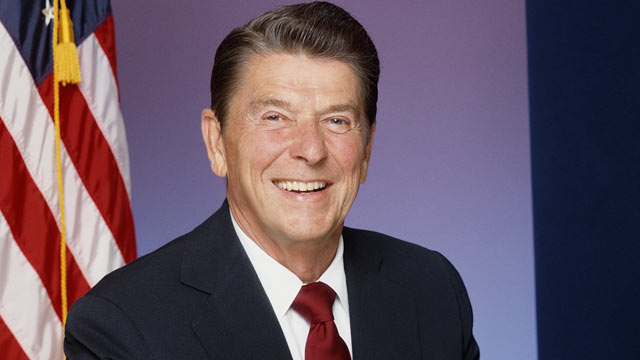 PHOTO: President Ronald Reagan poses for a portrait Session in in Los Angeles, CA., Jan. 1981.