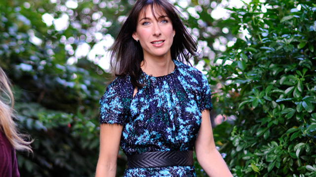 PHOTO: Samantha Cameron sighted arriving at the Erdem fashion show during London Fashion Week S/S 2013 on September 17, 2012 in London, England.