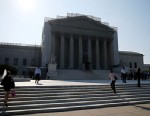 PHOTO: People wait to enter the U.S. Supreme Court building, June 24, 2013, in Washington.