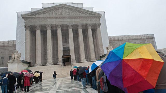 PHOTO: People outside Supreme Court