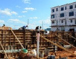PHOTO: Town homes under construction at Mosaic District, March 13, 2012, in Fairfax, VA. Fairfax County, a D.C. suburb ranked one of the top three richest counties in the country, depends on government contracts for much of its commercial revenue.