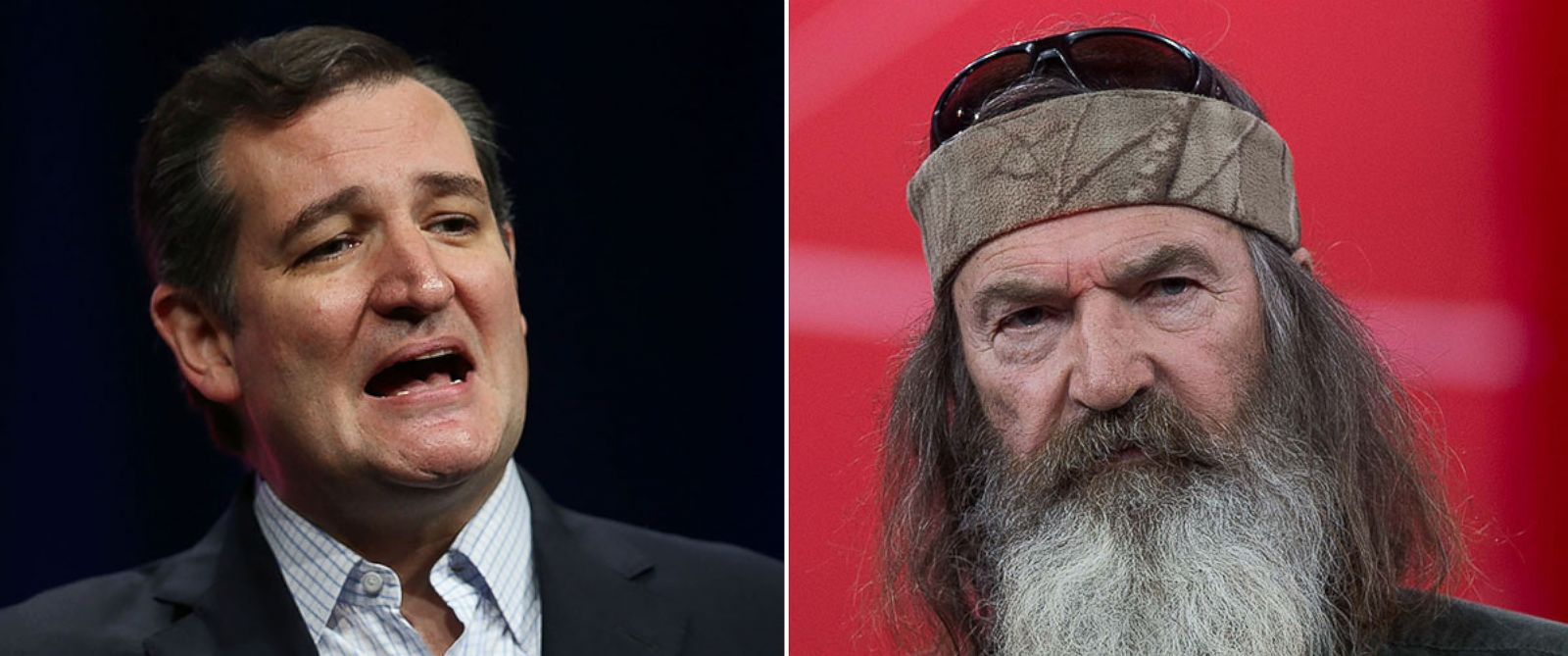PHOTO: Republican presidential candidate Sen. Ted Cruz speaks during the Sunshine Summit conference on Nov. 13, 2015 in Orlando, Fla. Phil Robertson speaks at the Conservative Political Action Conference (CPAC) in National Harbor, Md. on Feb. 27, 2015.