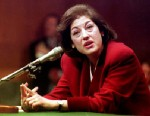 PHOTO: Zoe Baird, President Bill Clintons choice to head the Justice Department as attorney general, continues her testimony Jan. 21, 1993 before the Senate Judiciary Committee in Washington, DC..