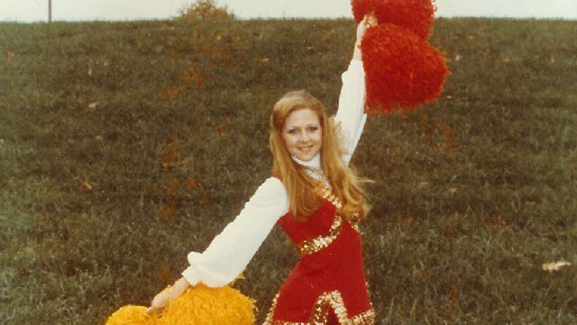 PHOTO: Maureen McDonnell poses for a photo in her a redskins cheerleader gear.