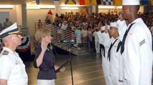 Vital to National Interest: Navy Immigrant Recruits Naturalized at Boot Camp