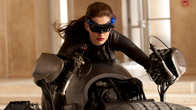 """PHOTO:Anne Hathaway portrays Catwoman in a scene from """"The Dark Knight Rises,"""" July 20, 2012."""