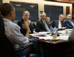 PHOTO: President Barack Obama holds meeting in Situation Room on the ongoing investigation in the Boston Marathon bombing, April 20, 2013.